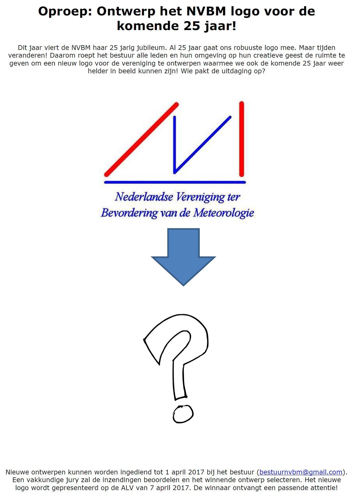 Oproep: ontwerp nieuw NVBM logo