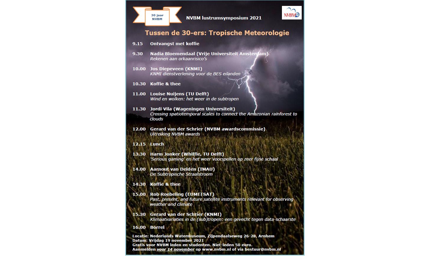 NVBM najaarssymposium. Tussen de 30-ers: Tropische meteorologie