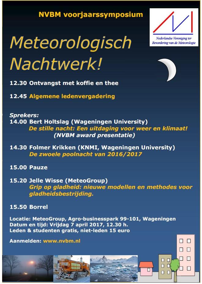 7 April '17: Symposium Meteorologisch Nachtwerk!