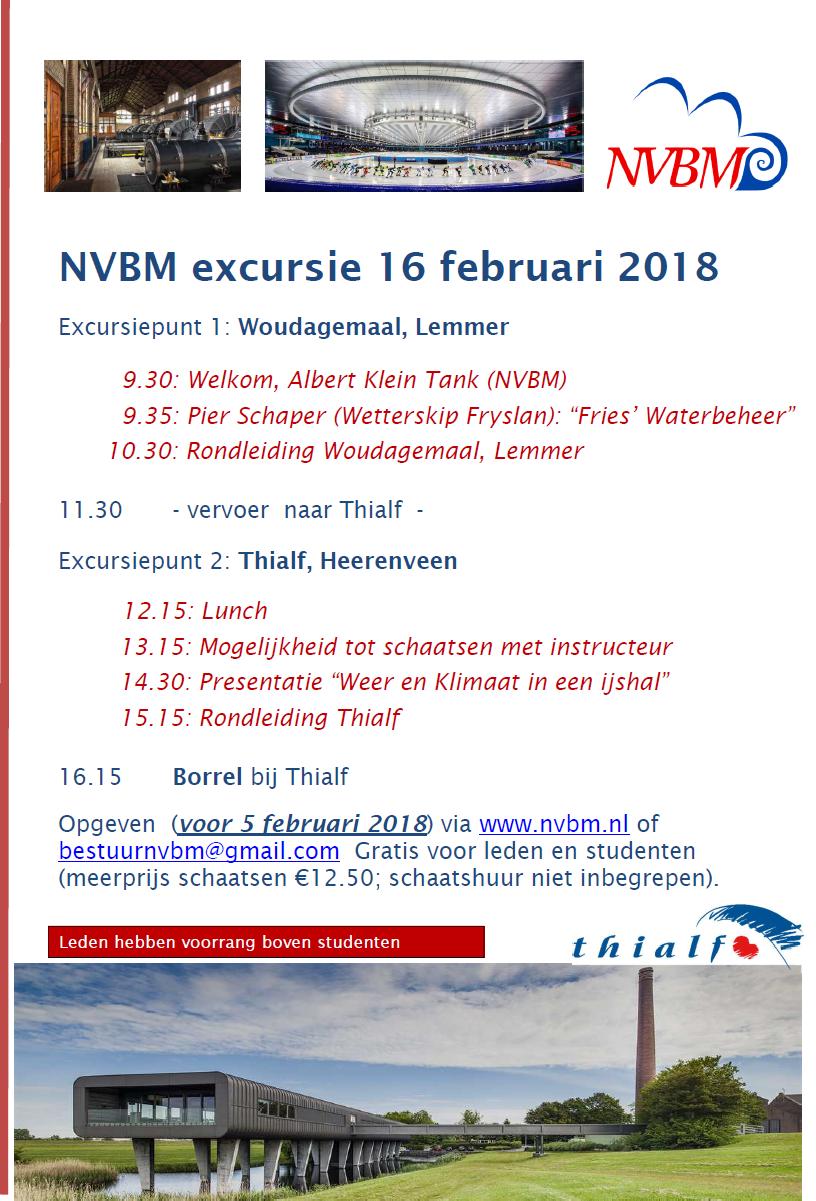 NVBM excursie 16 februari 2018: Woudagemaal en Thialf