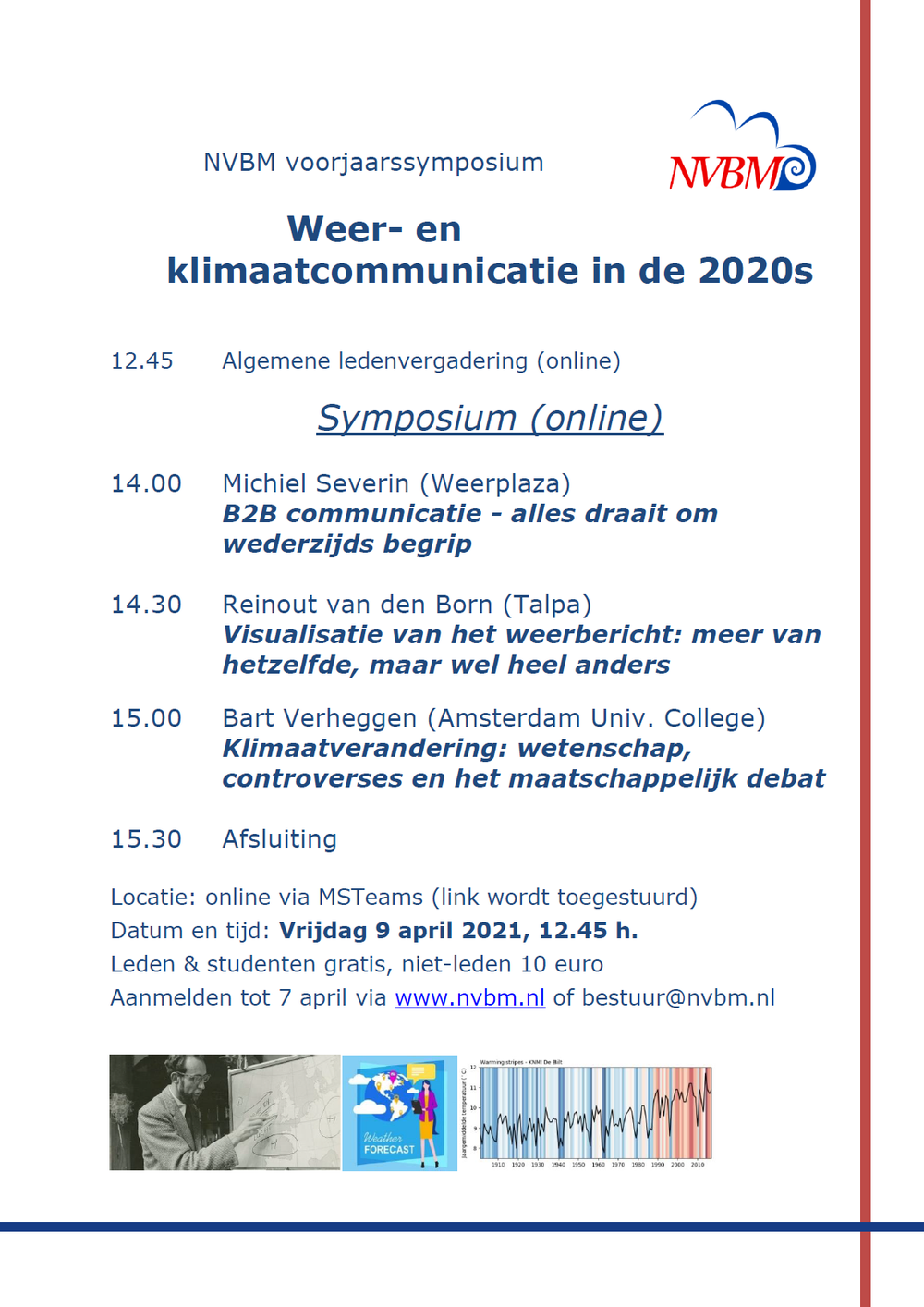 Voorjaarssymposium 9 april 2021: Weer- en klimaatcommunicatie in de 2020s
