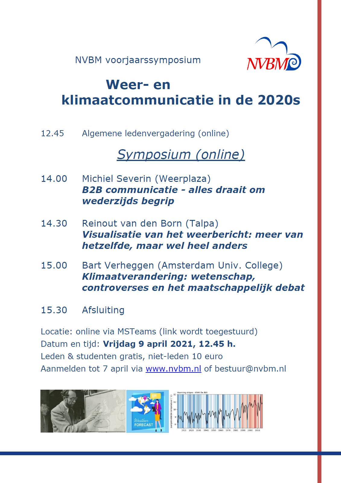 Voorjaarssymposium 9 april 2021: Weer- en klimaatcommunicatie in de 2020s